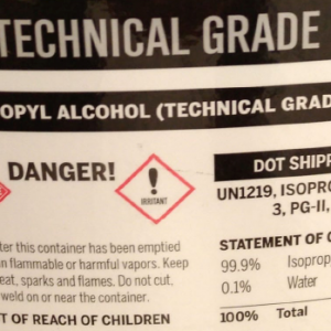 Drum of ISO propyl alcohol 99.9%